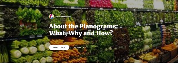 planograms, lesson, online learning
